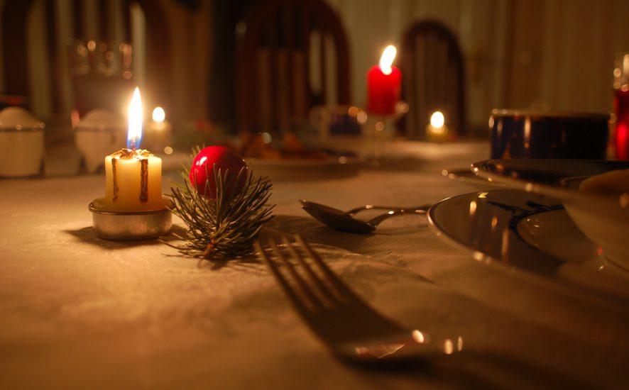 decoración de mesa navideña 2018