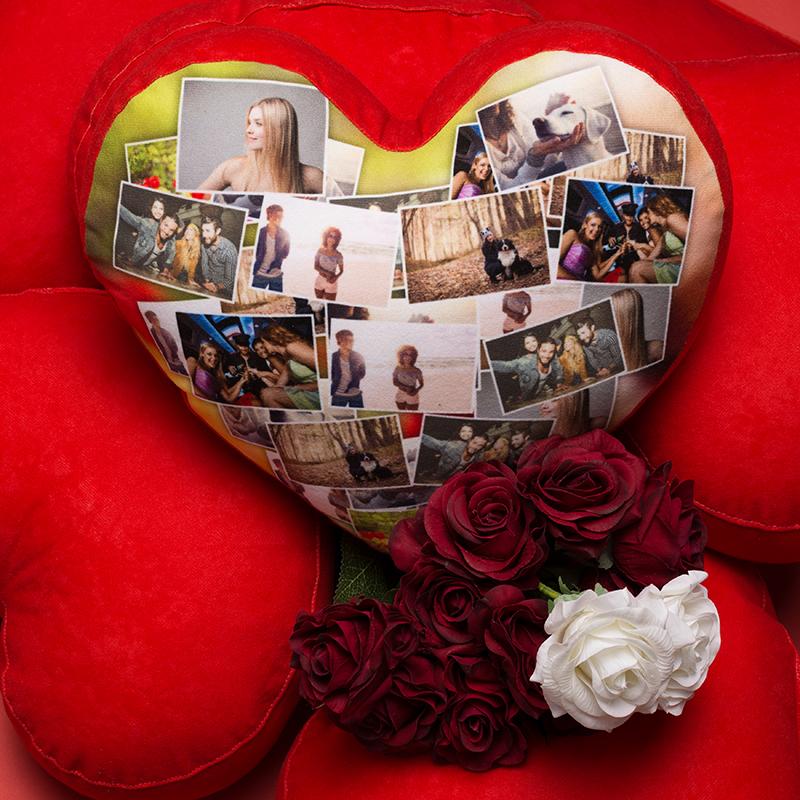 cojin corazón personalizado