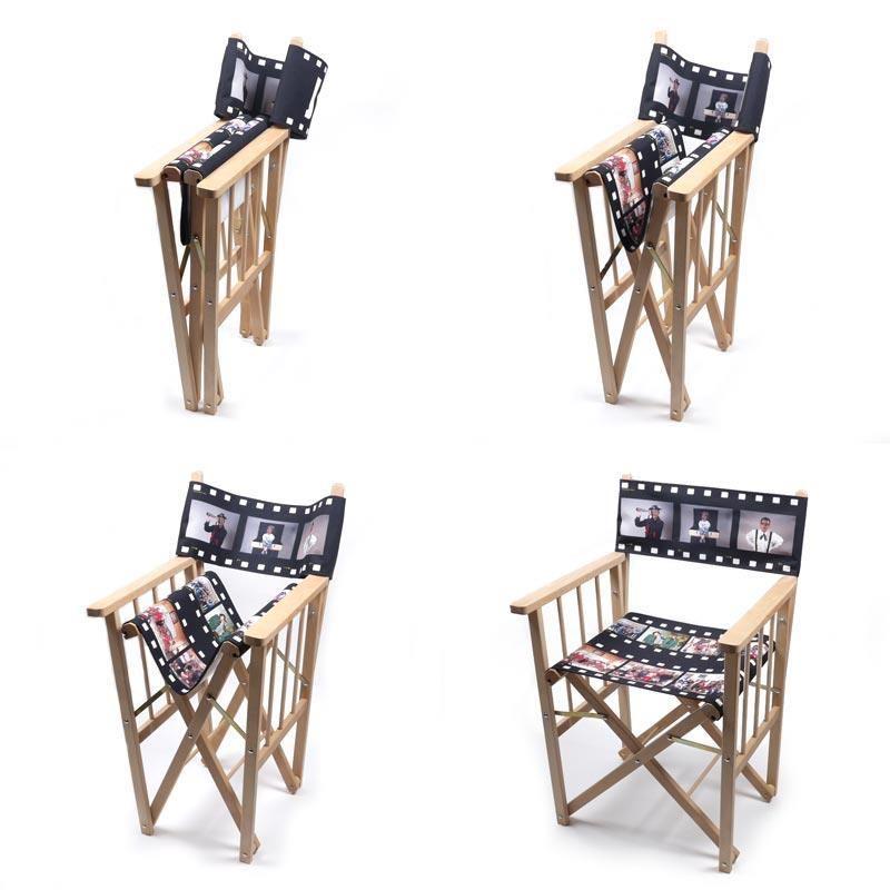 silla de director personalizada con tu propia foto dise o
